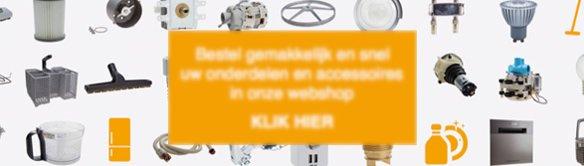 Bestel gemakkelijk en snel uw onderdelen en accessoires in onze webshop