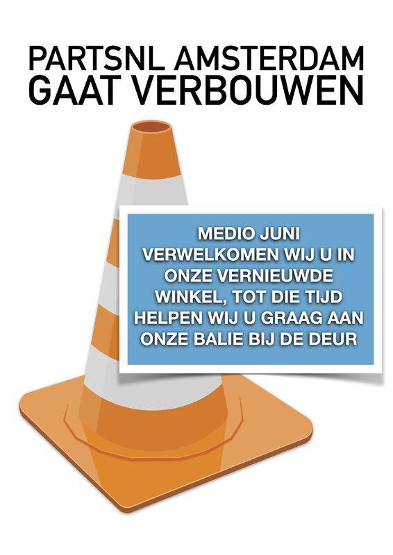 PartsNL Amsterdam gaat verbouwen